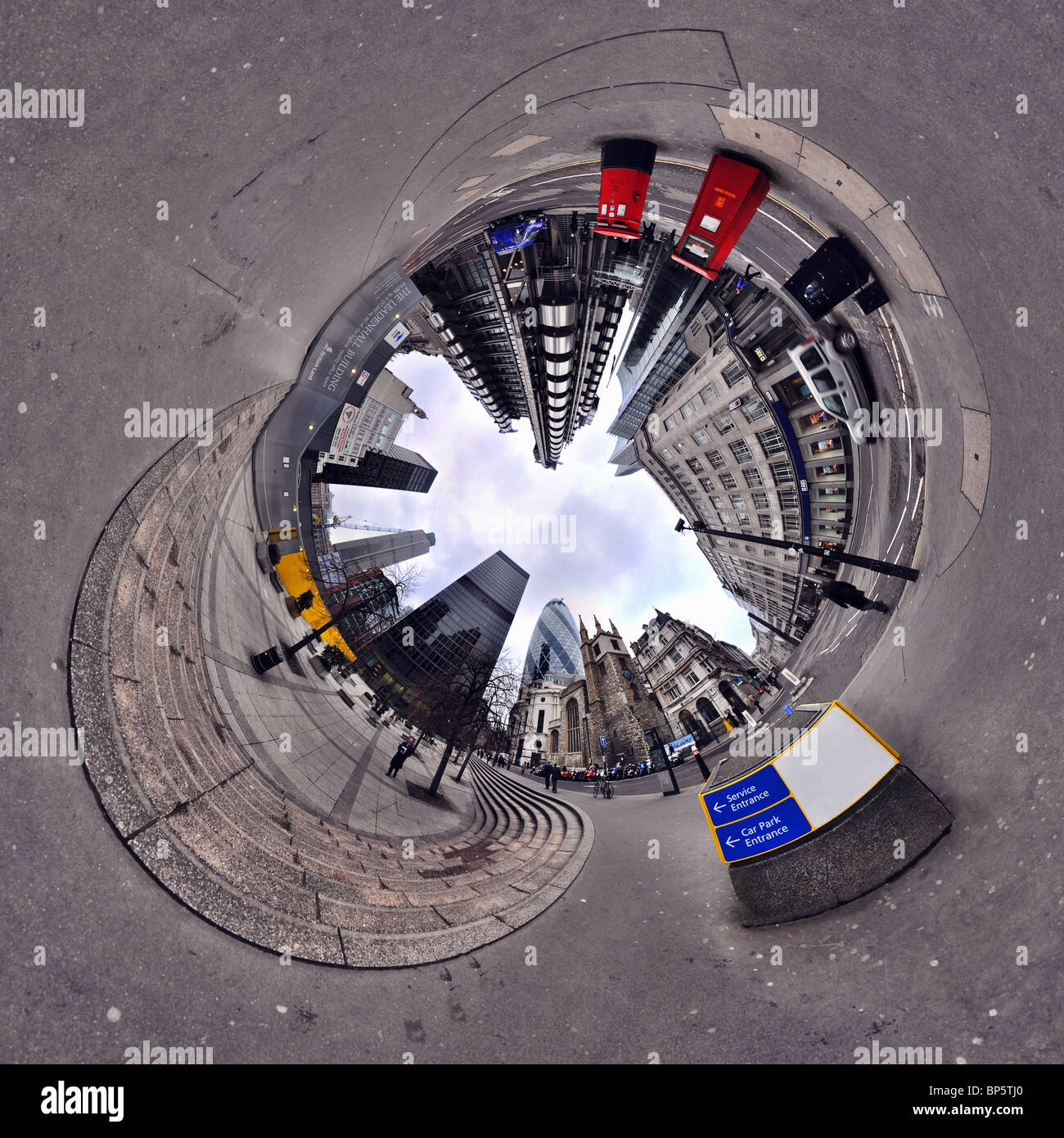 City of london with tunnel effect - Stock Image