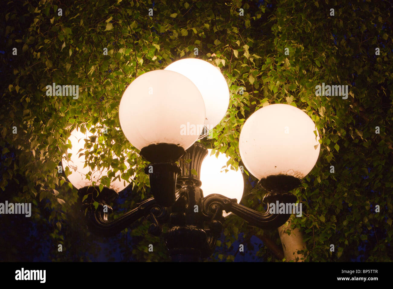An outside lamp. - Stock Image