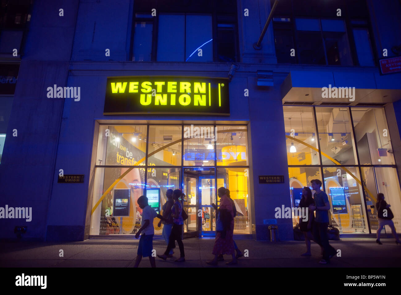A Western Union Office In Midtown Manhattan In New York   Stock Image