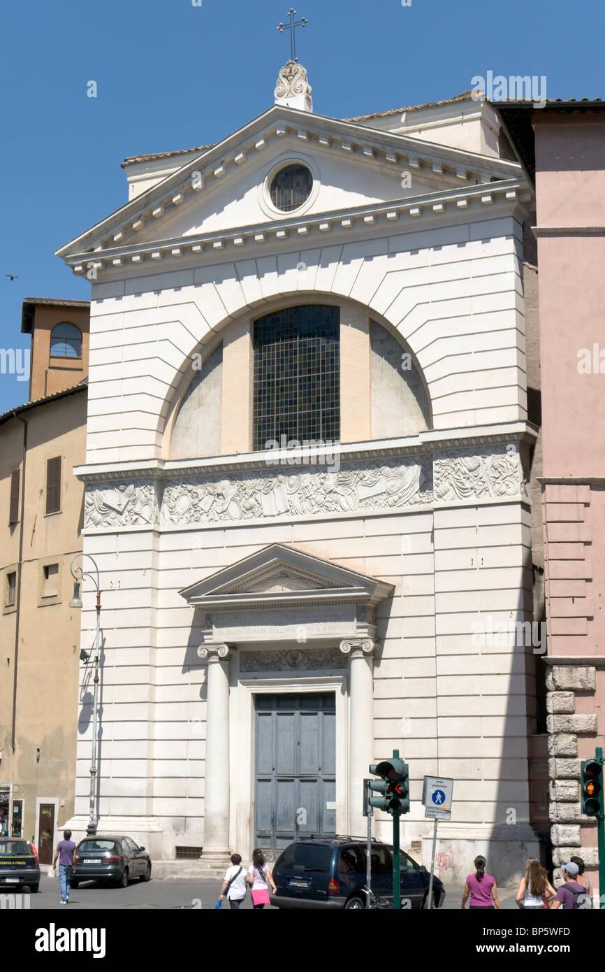 Church San Pantaleo, Rome, Italy - Stock Image