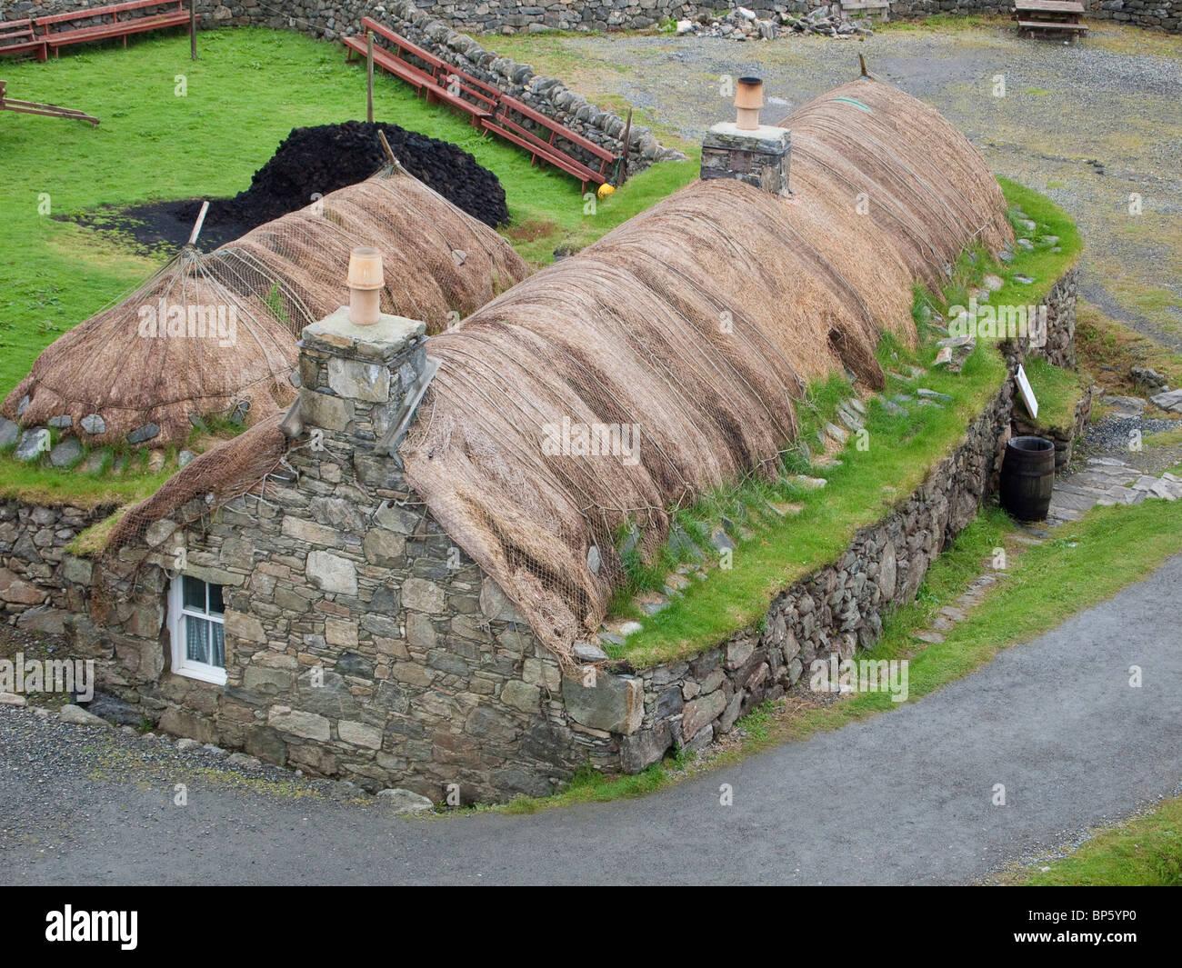 Black House at Gearrannan, Isle of Lewis, Scotland - Stock Image