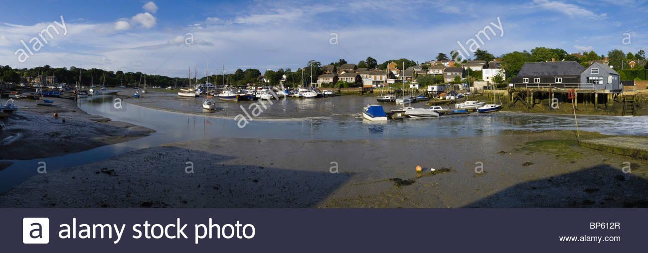 Wotton Creek Isl of Wight Panorama - Stock Image