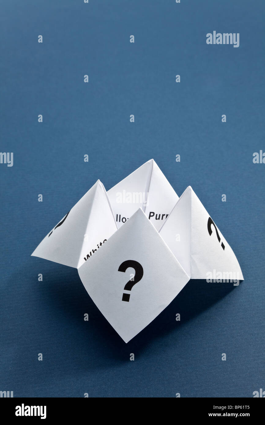 Paper Fortune Teller,concept of uncertainty - Stock Image