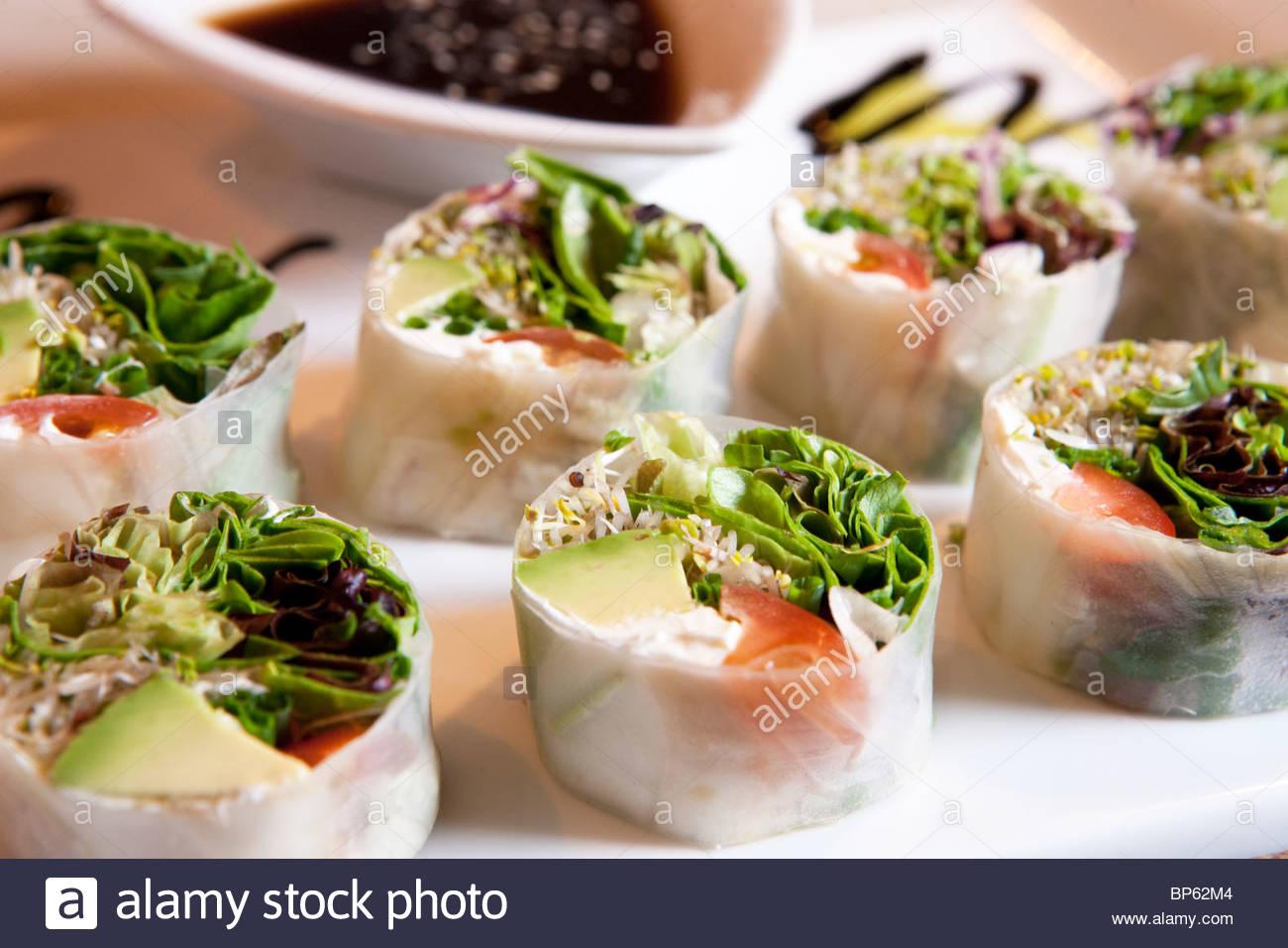 Vegetable Sushi - Stock Image