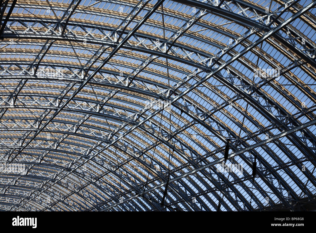 The roof of St Pancras Station, Camden, London, NW1. - Stock Image