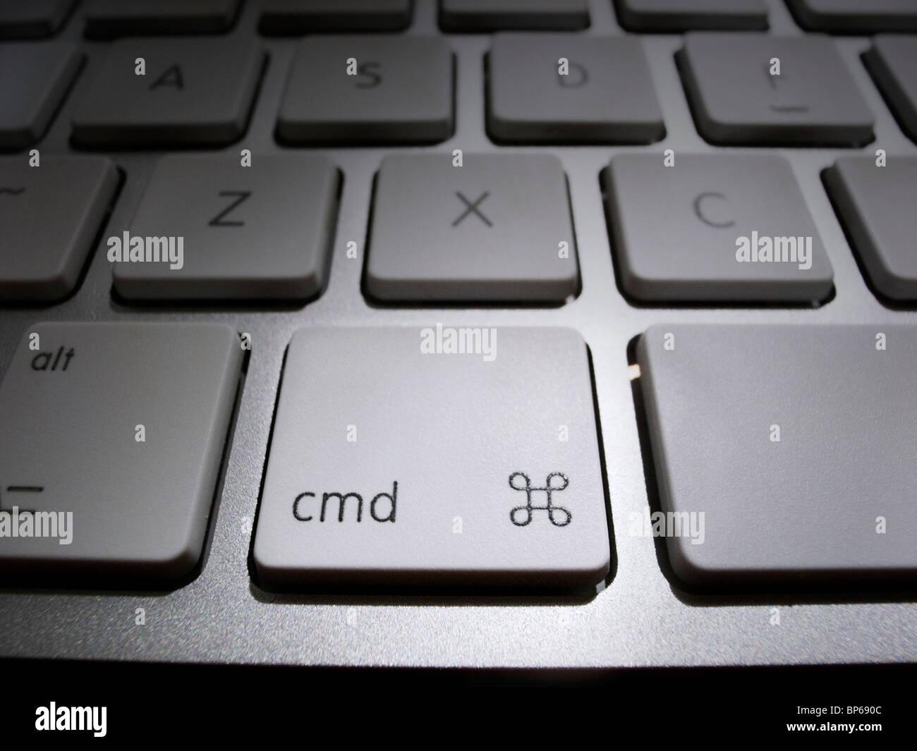 Close-up of Command Key on iMac keyboard - Stock Image