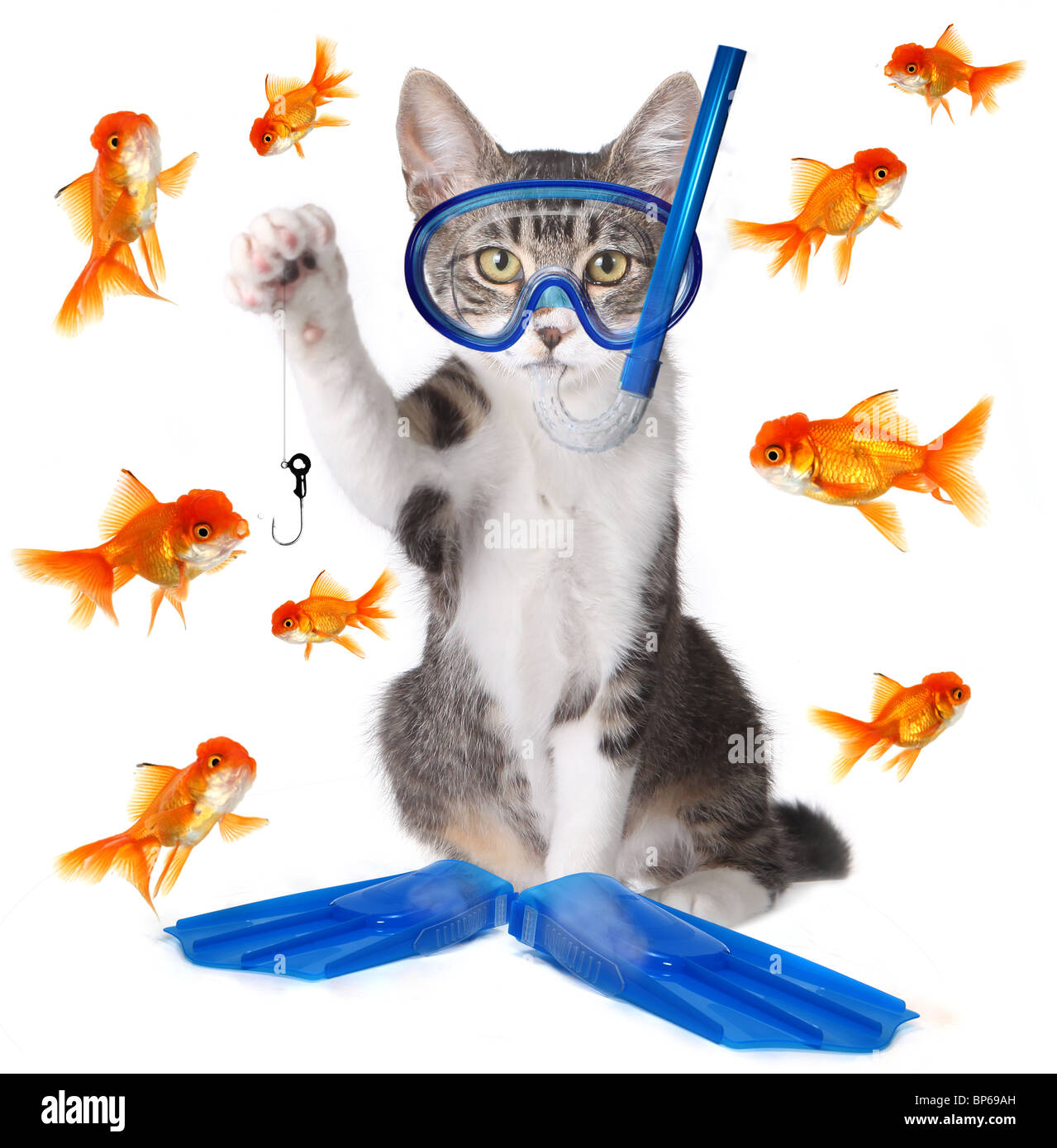 Modern Spin on the Term Fishing to be Analogous with Phishing in the New Age of Technology - Stock Image