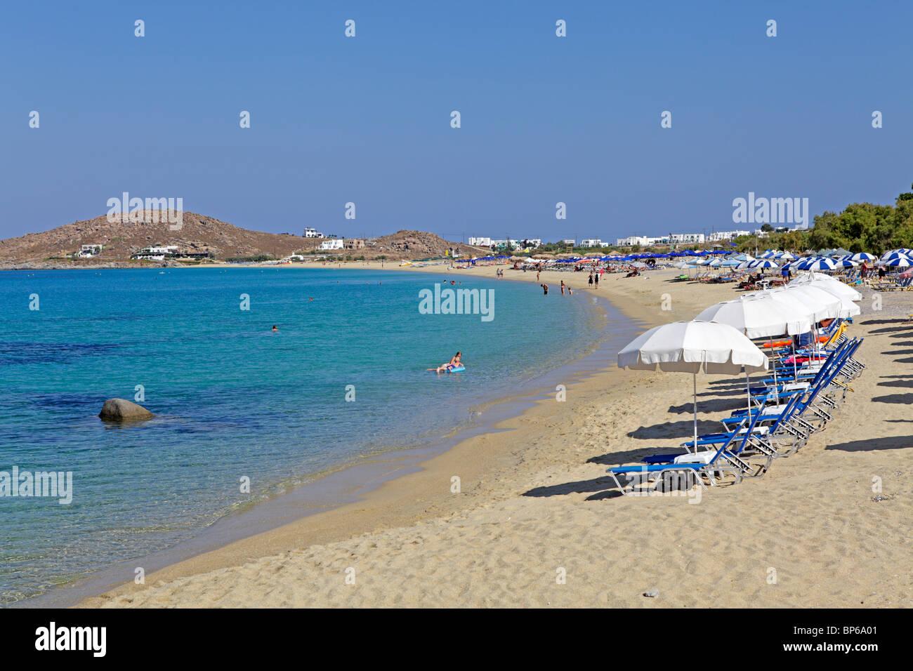 beach of Agios Prokopios, Island of Naxos, Cyclades, Aegean Islands, Greece Stock Photo