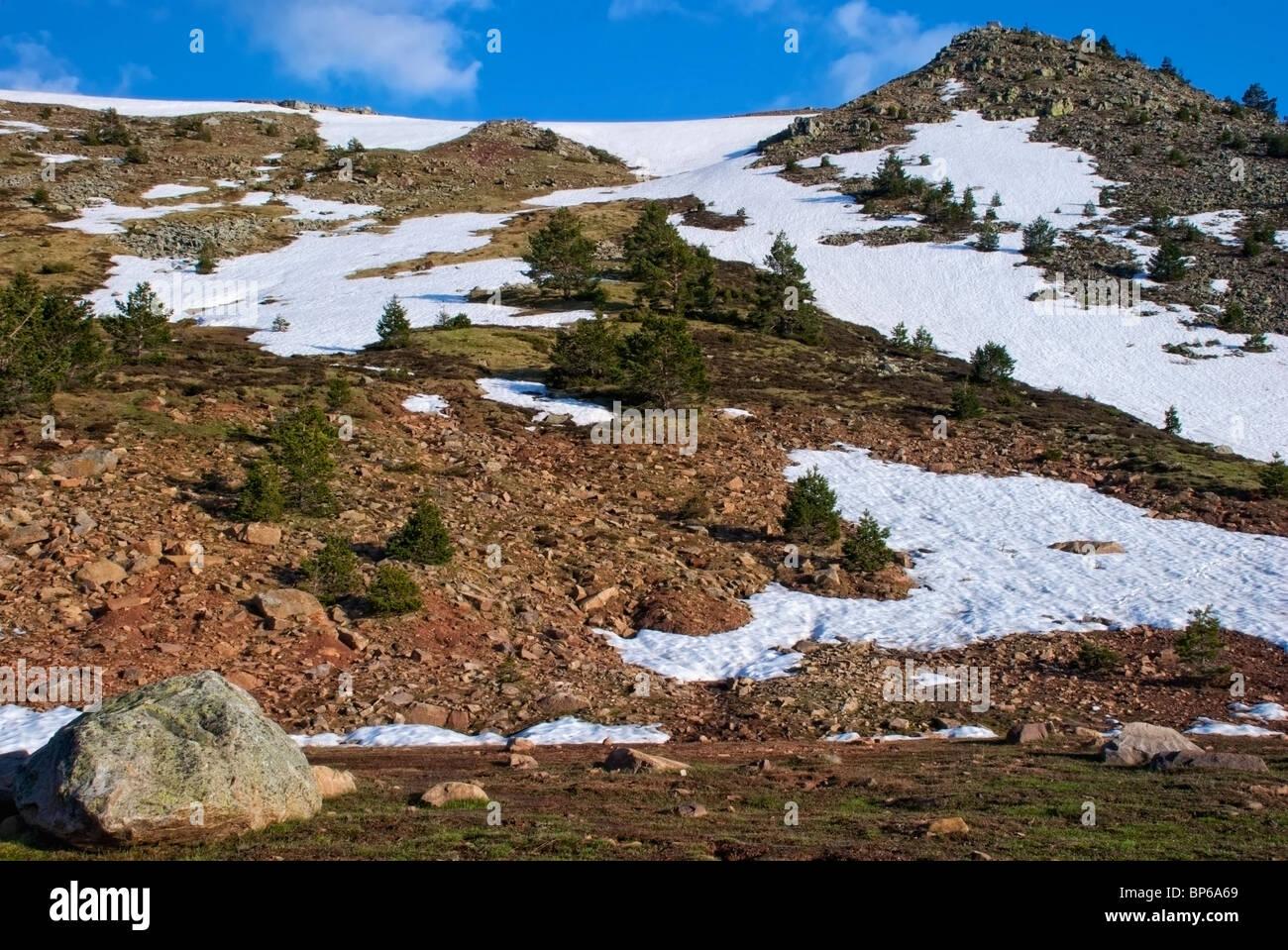 Lagunas Glaciares de Neila Natural Park. Burgos province. Castilla y Leon. Spain. - Stock Image