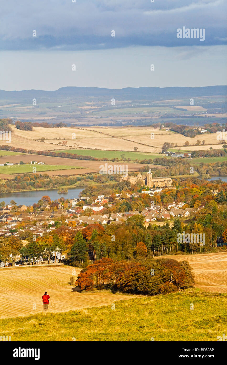 view of Linlithgow from Cockleroy Hill Stock Photo