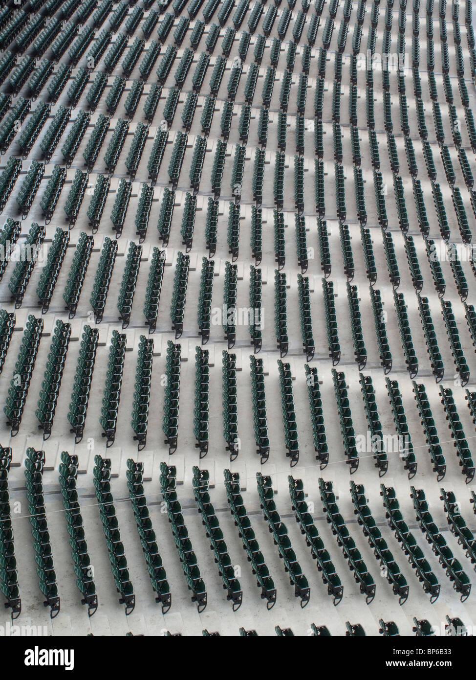 Abstract photos of stadium seats - Stock Image