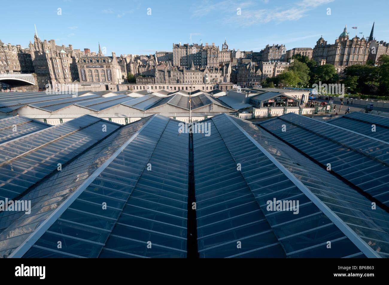 Edinburgh Glass Roof - Stock Image