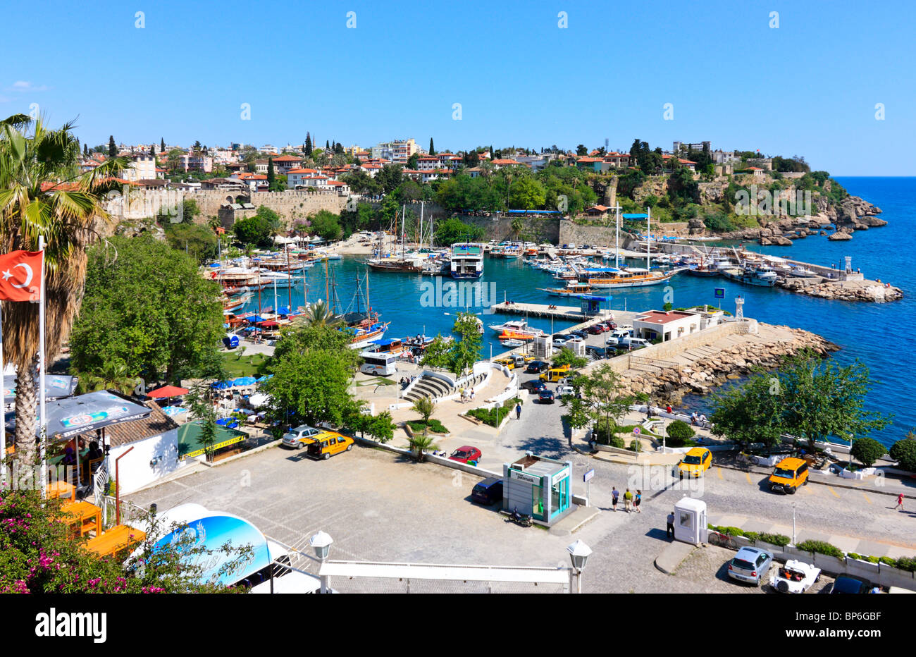 Habour and Marina of Antalya, Turkey - Stock Image