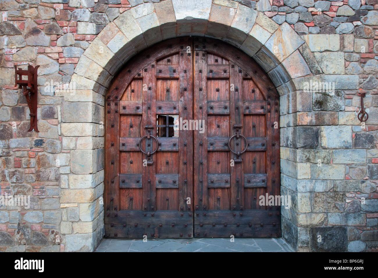 Castle Door At Castello Di Amorosa Napa Valley