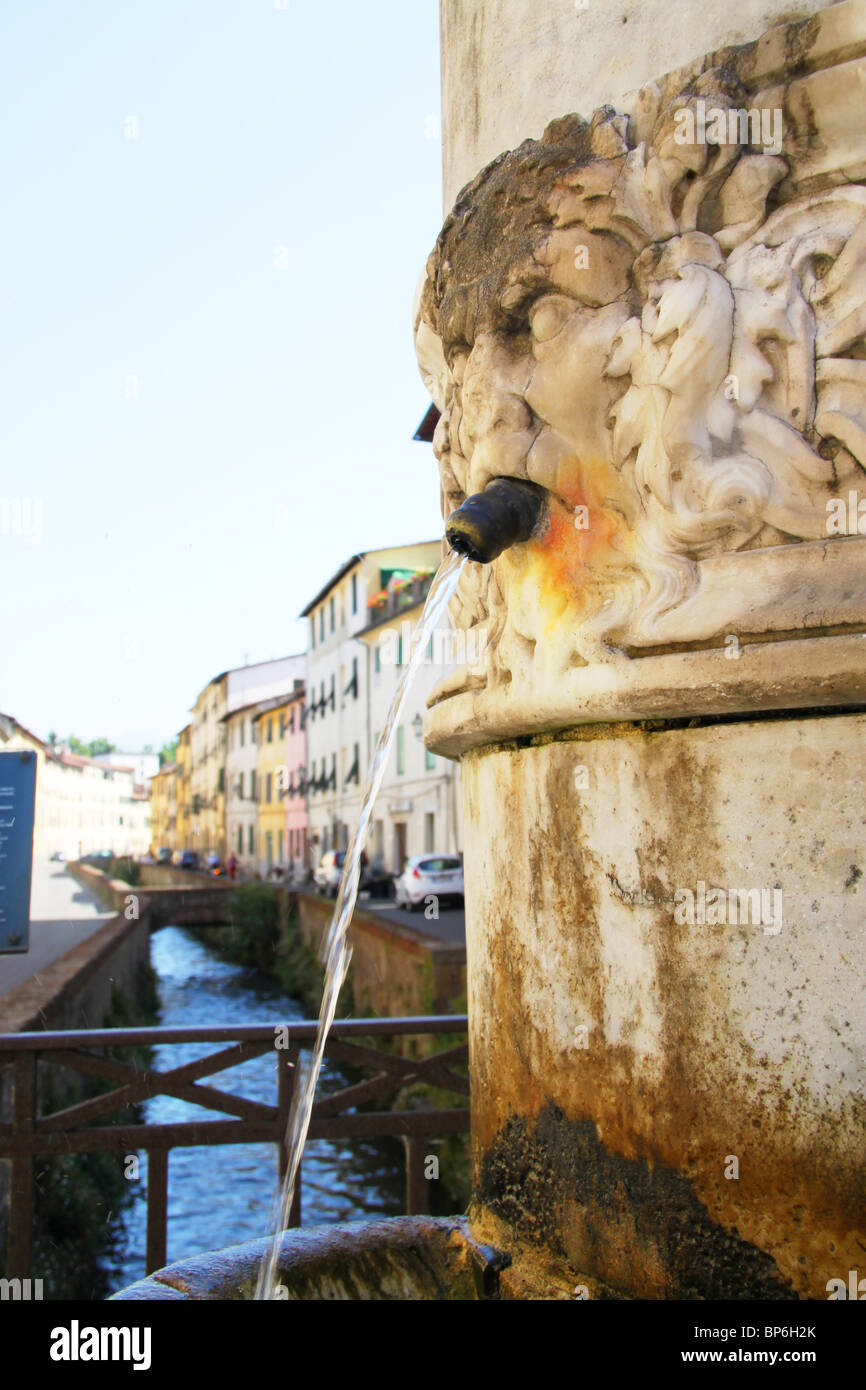 Fountain, Il fosso, lucca, Tuscany, Italy - Stock Image