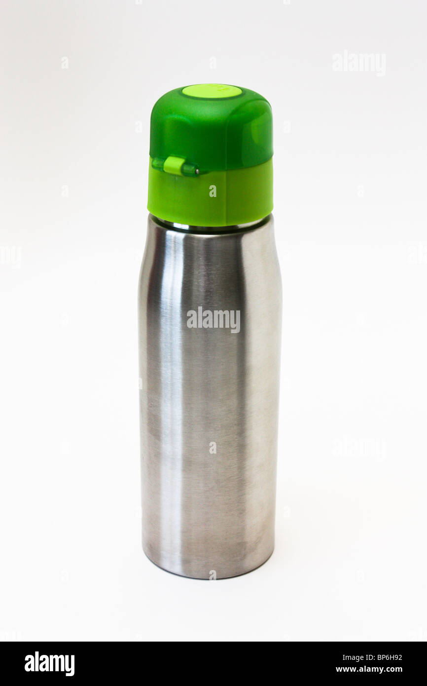 green stainless steel  water bottle - Stock Image