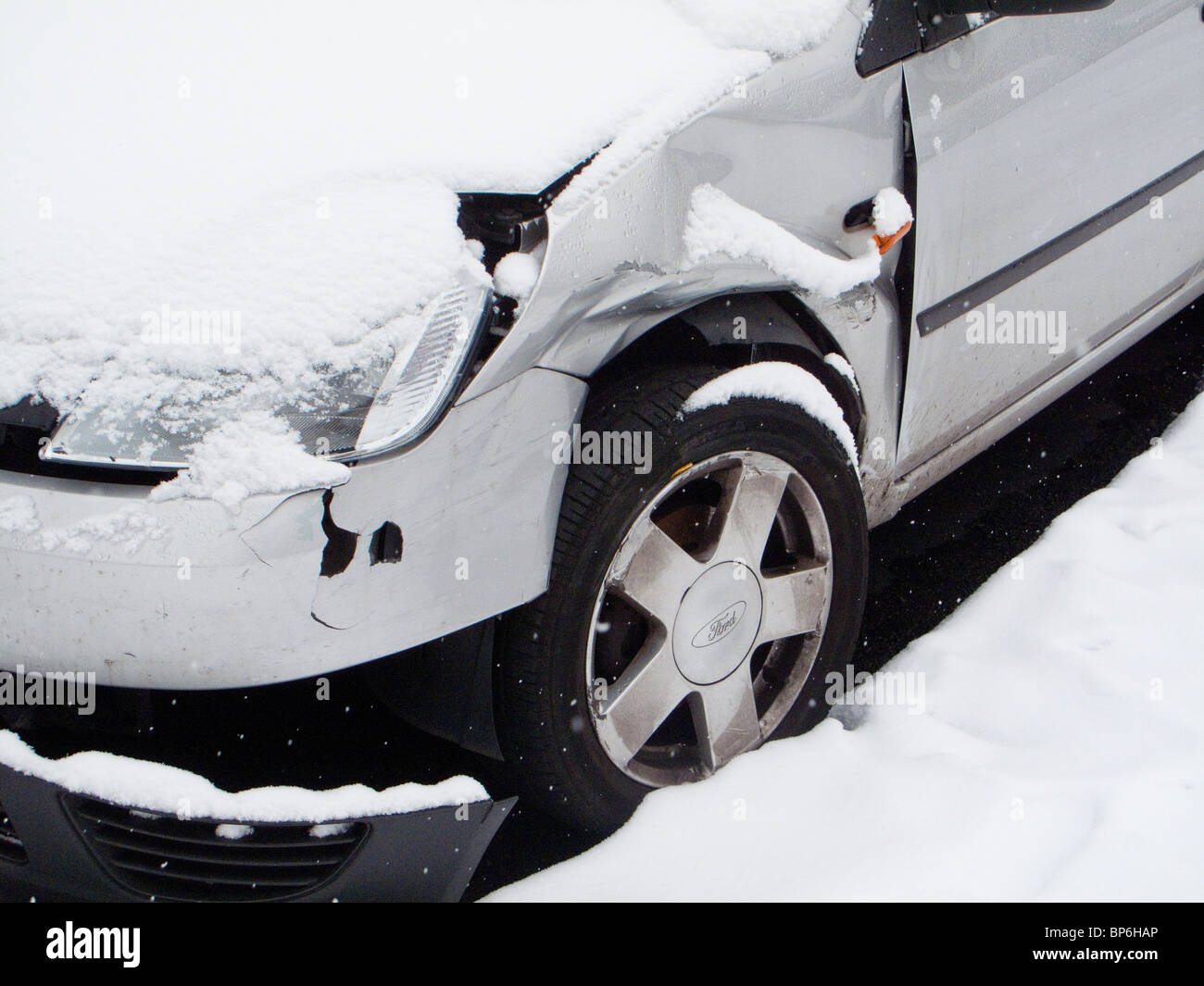 Car crash accident - Stock Image