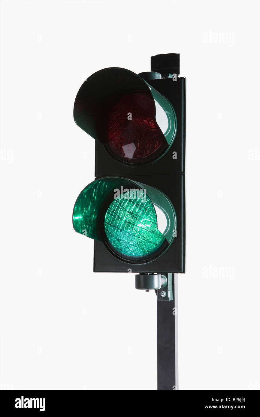 A stoplight with the green light illuminated - Stock Image