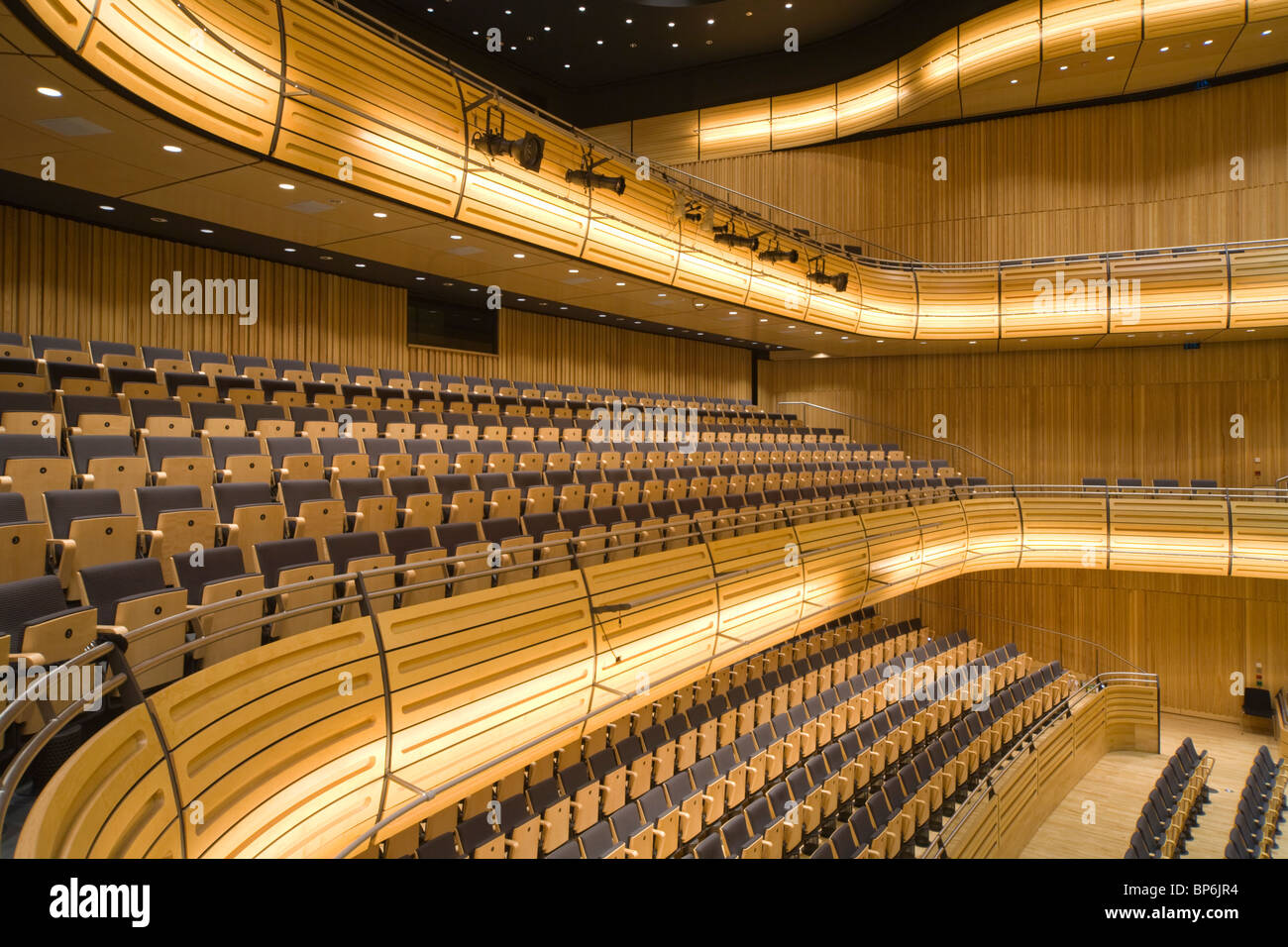 Hall One of the Sage Building Gateshead, designed by Sir Norman Foster - Stock Image
