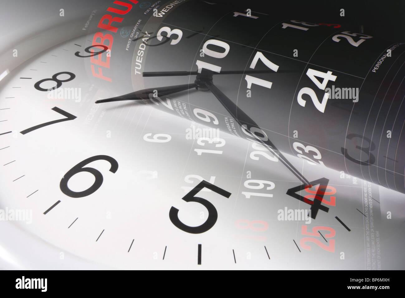 Clock and Calendar - Stock Image