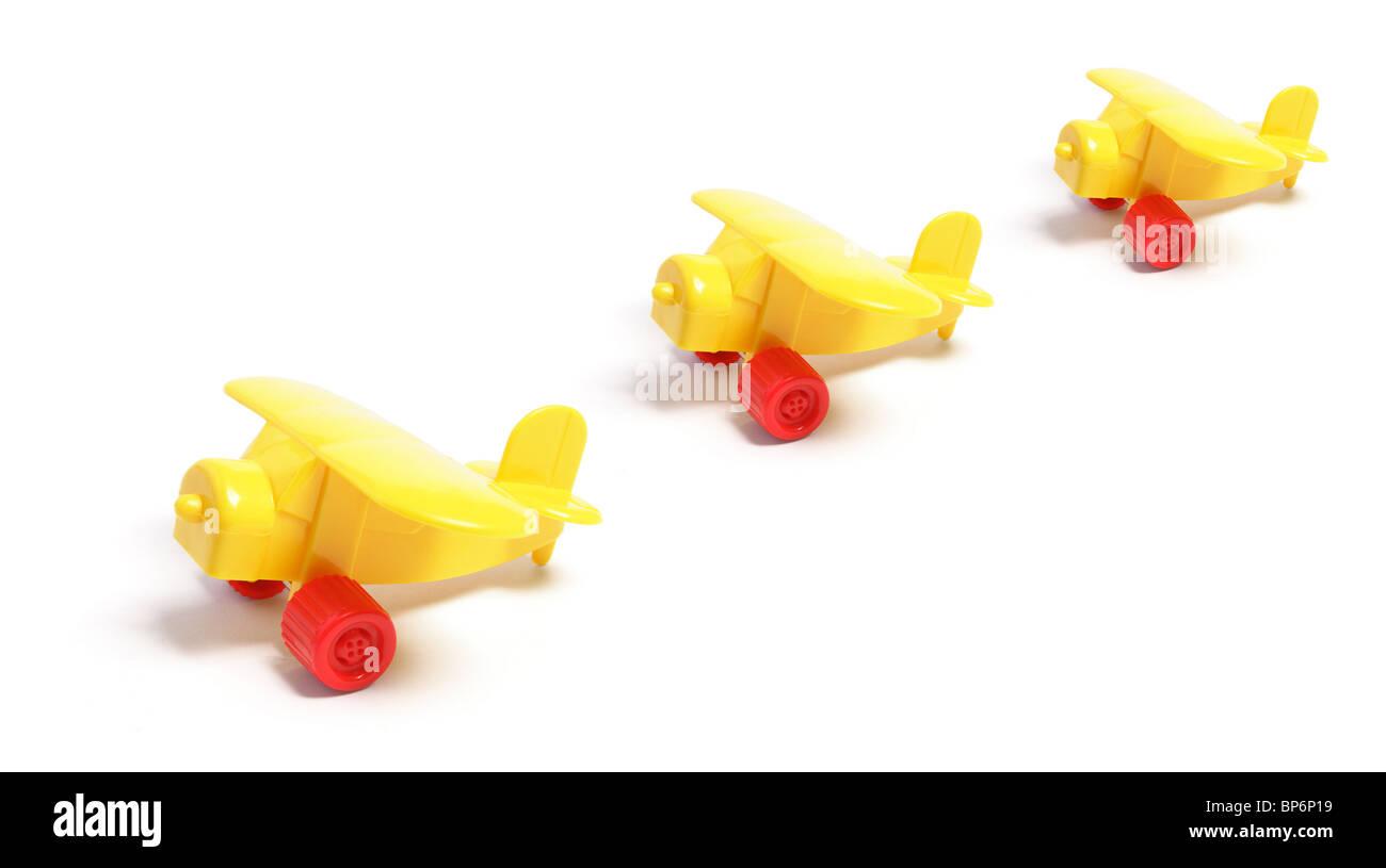 Plastic Toy Planes - Stock Image