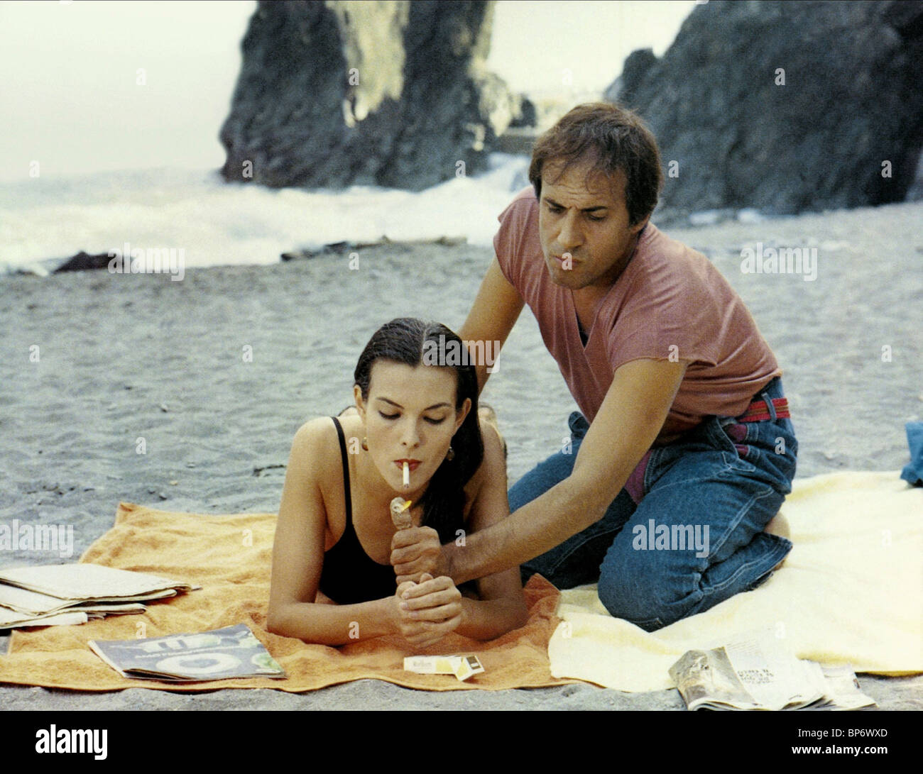 Carole Bouquet Adriano Celentano Bingo Bongo 1982 Stock Photo