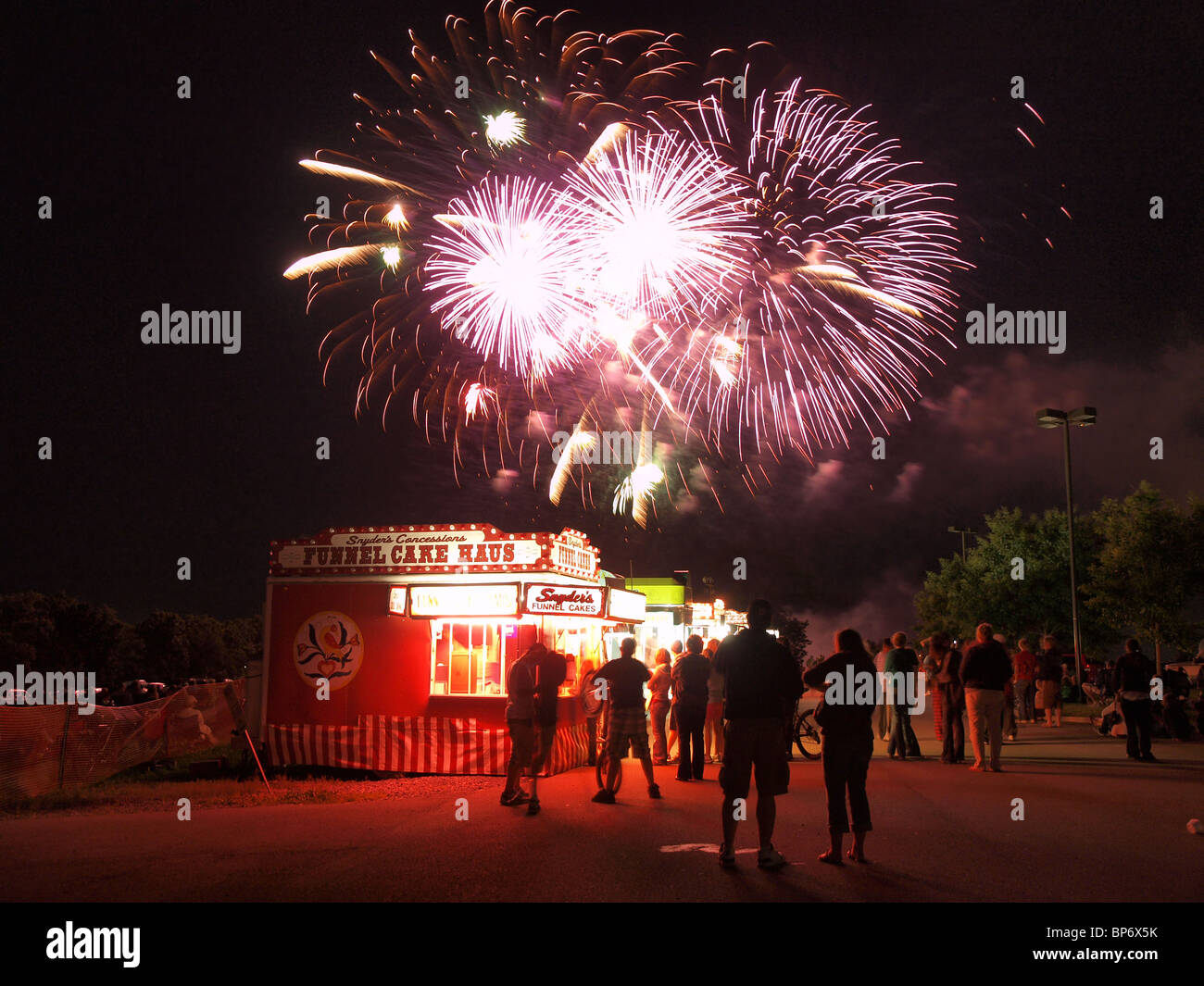 Editorial Photo - Pennsylvania Fireworks - Stock Image