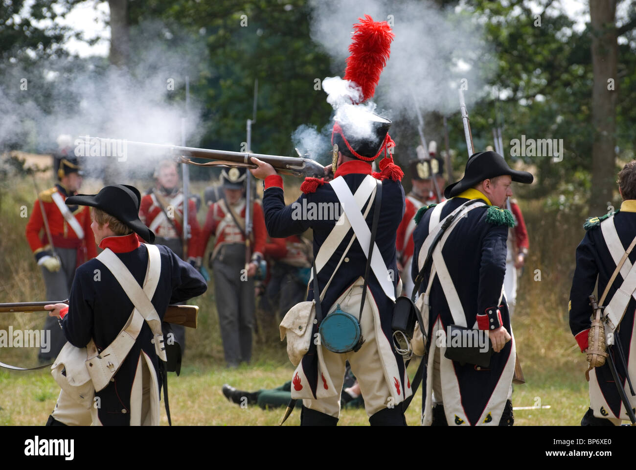 napoleonic rifle man at blasts from the past broadlands romsey Stock Photo