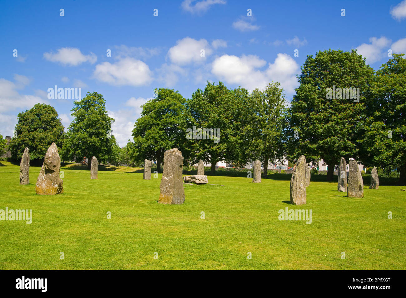 Llanrwst, Stone Circle, Snowdonia, north Wales, UK - Stock Image