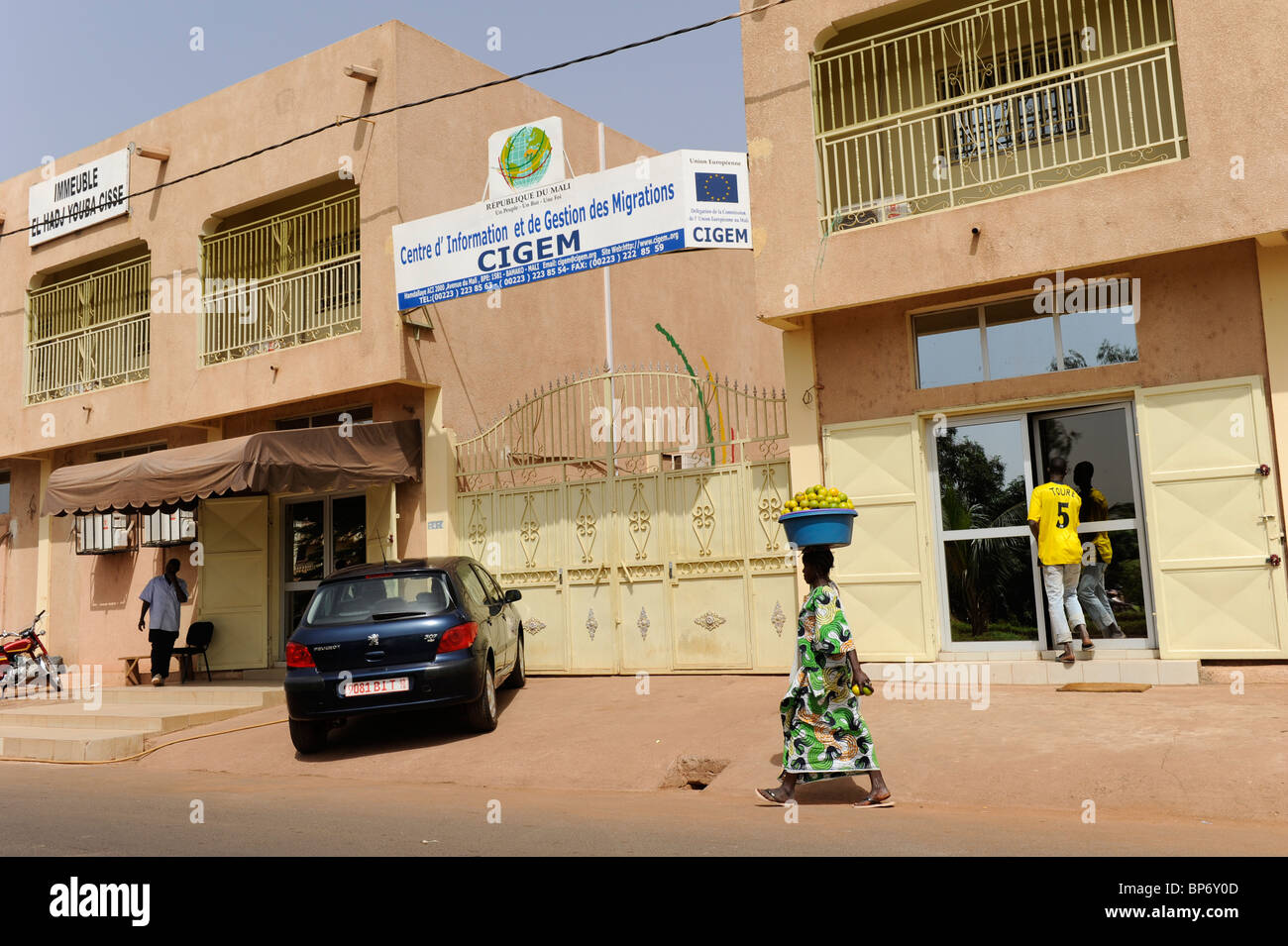 Africa Mali Bamako , CIGEM a from European Union financed center for consulting of african refugees and migrants - Stock Image