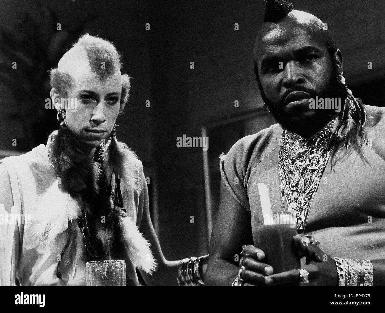 Robin duke mr t saturday night live 1983 stock image