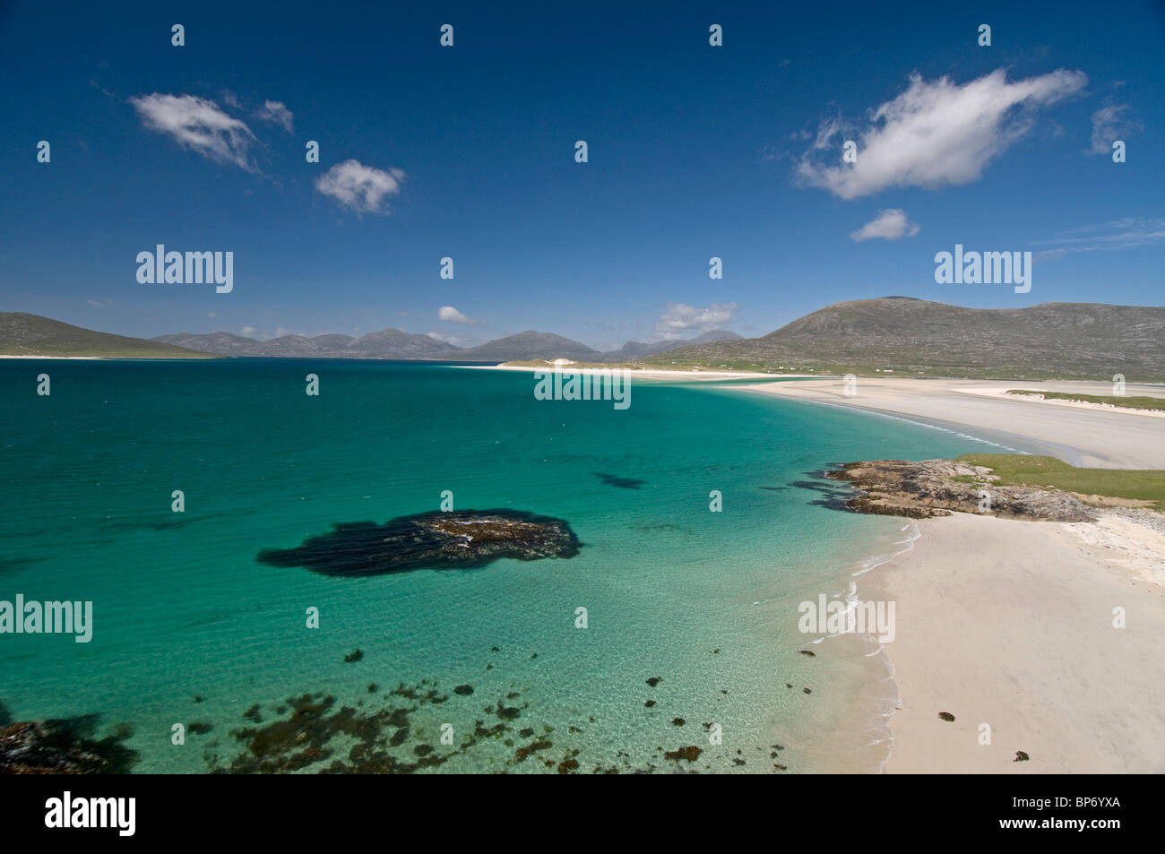 Traigh Sheileboist extensive sands and beach, west Harris, Outer Hebrides, Western Isles Scotland.  SCO 6335 - Stock Image