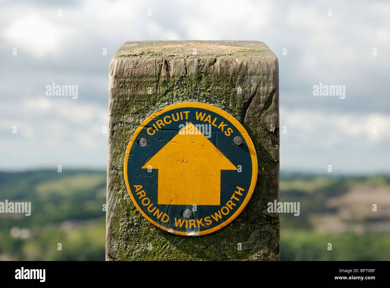 circuit walks sign Wirksworth Derbyshire england uk - Stock Image