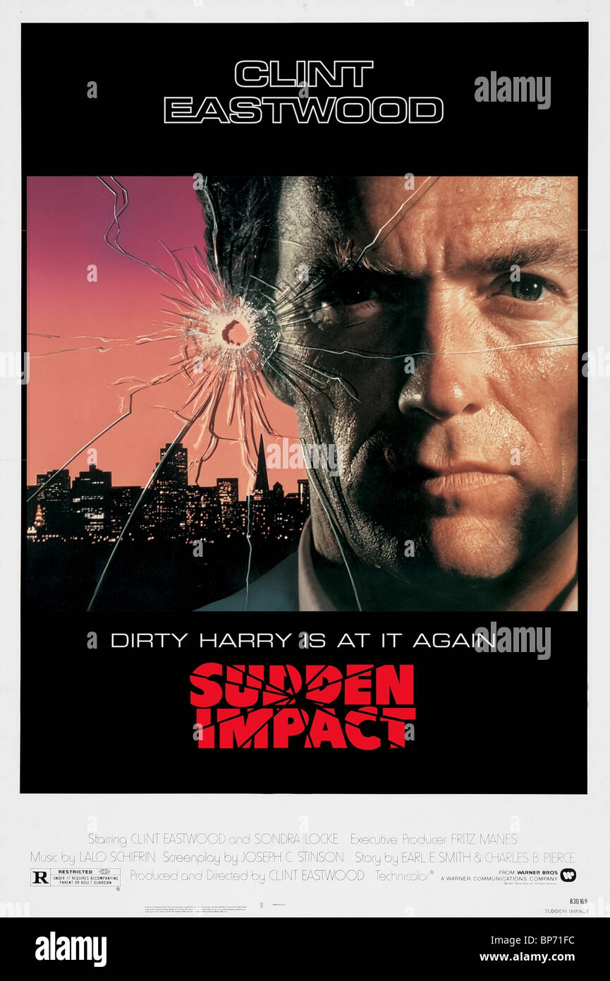 Clint Eastwood Poster Dirty Harry 4 Sudden Impact 1983