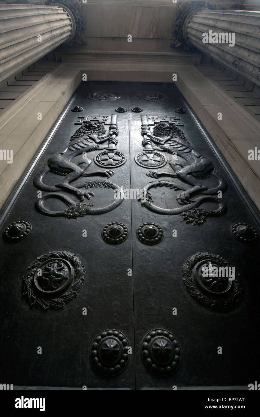door at the bank of england - Stock Image