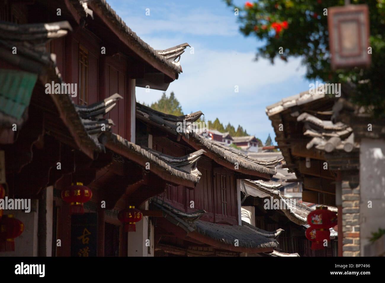 Old town, Lijiang, Yunnan Province, China - Stock Image