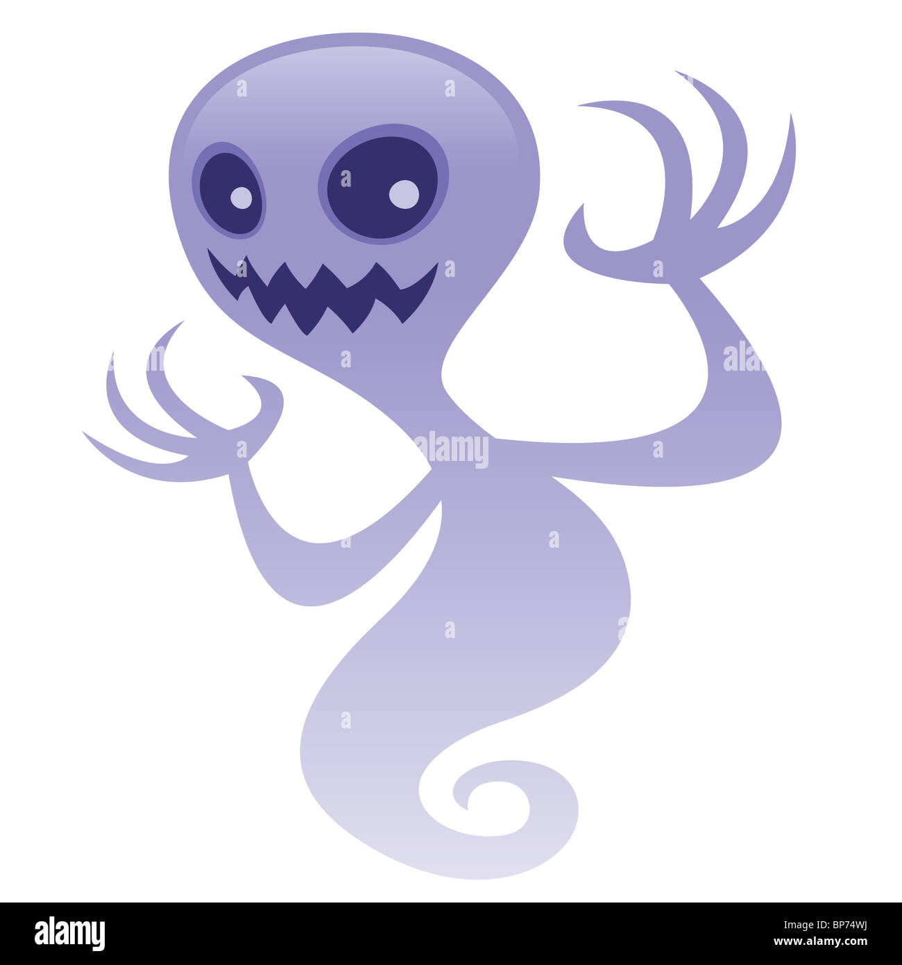 Grinning Ghost. - Stock Image