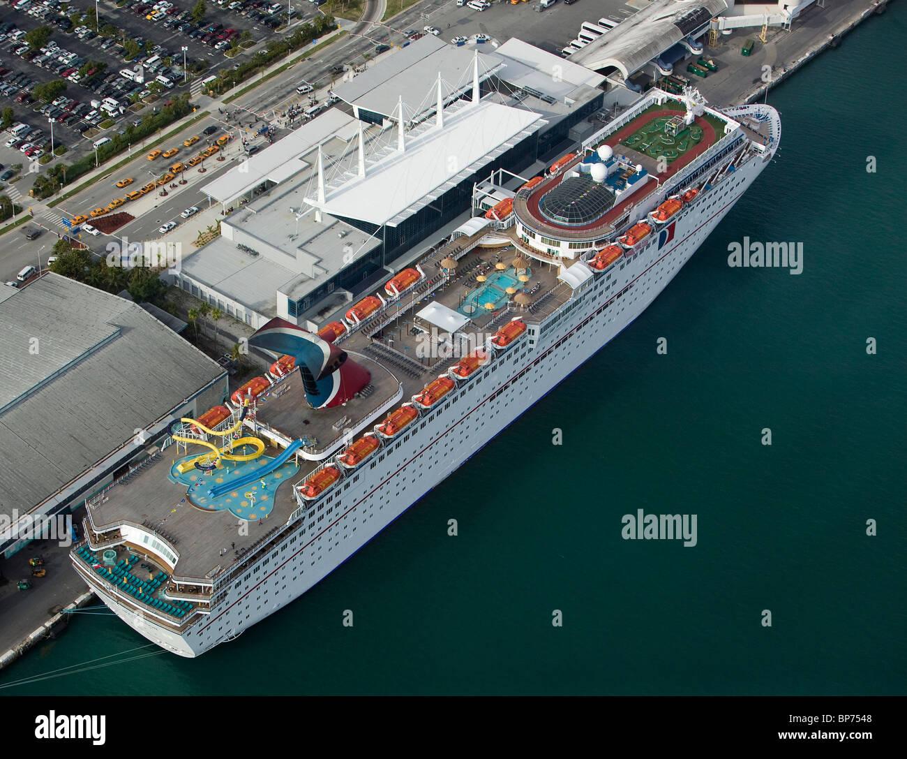 Port Of Miami Cruise Lines: Miami Cruise Port Stock Photos & Miami Cruise Port Stock