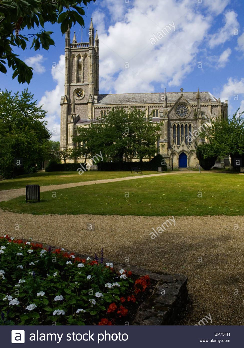 Andover Hampshire England St Mary's Church Vertical - Stock Image