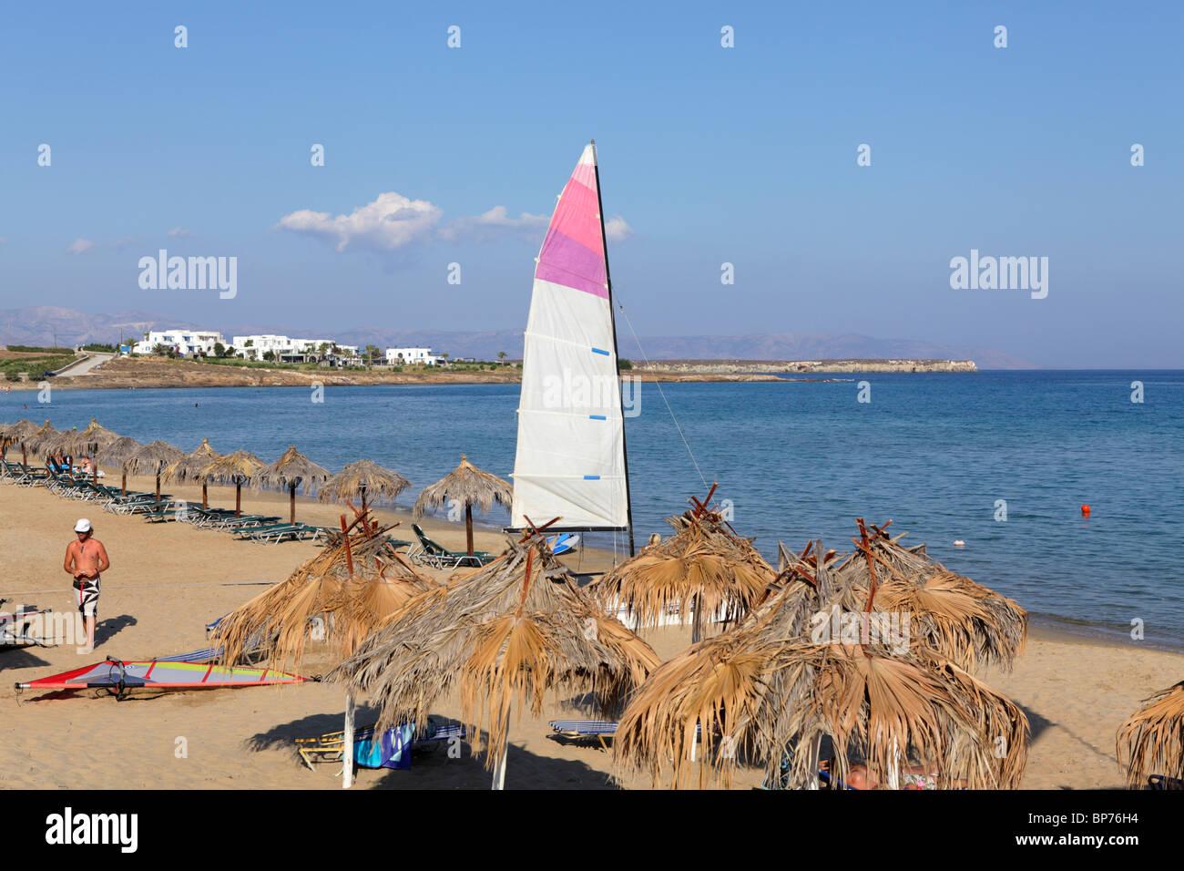 beach Nea Chrissi Akti (golden beach), Island of Paros, Cyclades, Aegean Islands, Greece Stock Photo