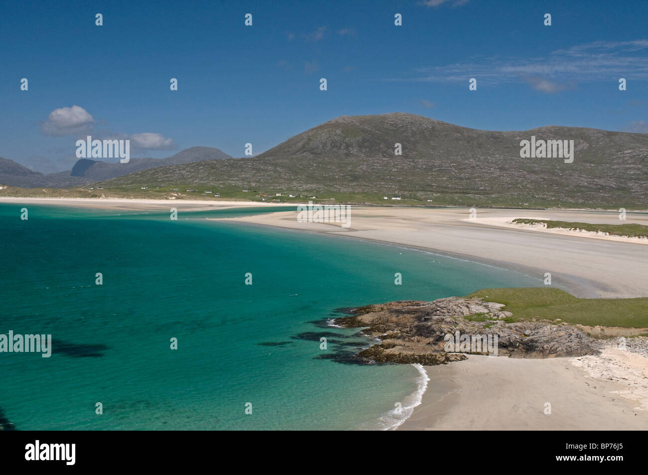 Traigh Sheileboist extensive sands and beach, west Harris, Outer Hebrides, Western Isles Scotland.  SCO 6333 - Stock Image