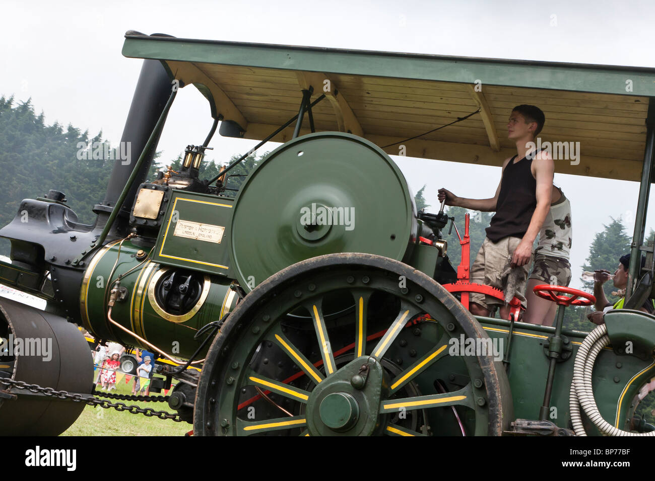 1929 Ruston and Hornsby steam roller - Stock Image