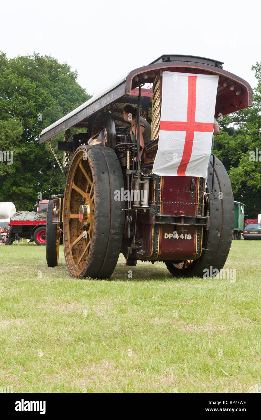 1916 Fowler showmans engine - Stock Image