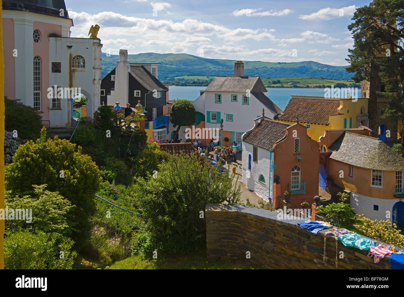 Portmeirion, village, Gwynedd, North Wales, UK Stock Photo