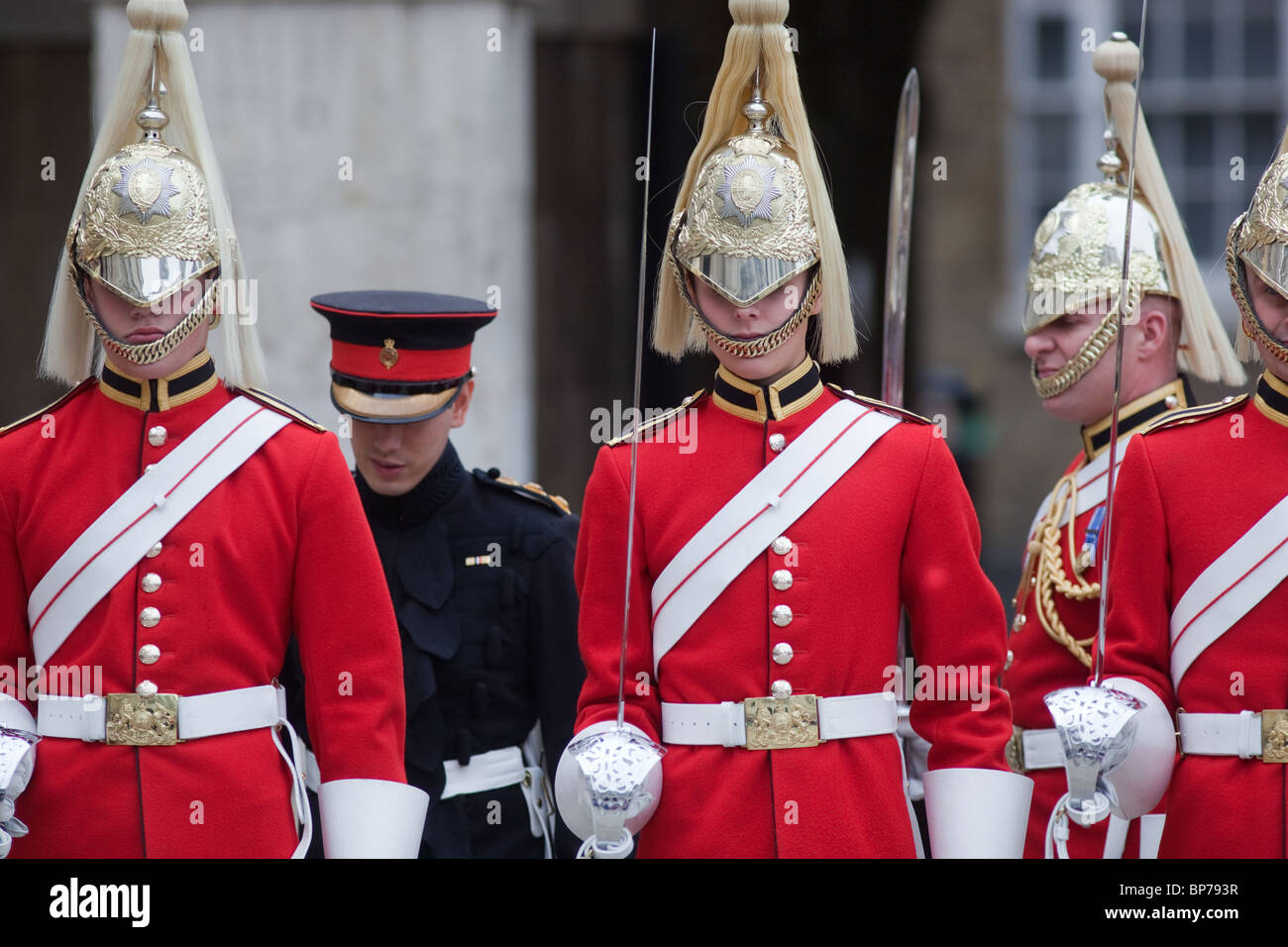 Household Calvary at Horse Guards Parade Westminster London Stock Photo