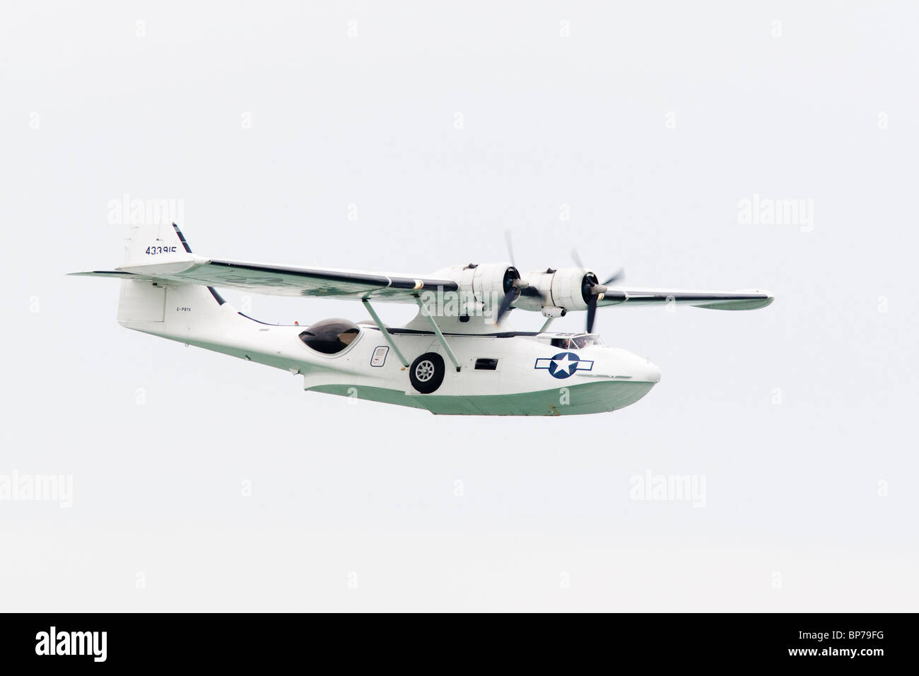 A Catalina flying boat at the Airbourne airshow, Eastbourne, East Sussex, UK - Stock Image
