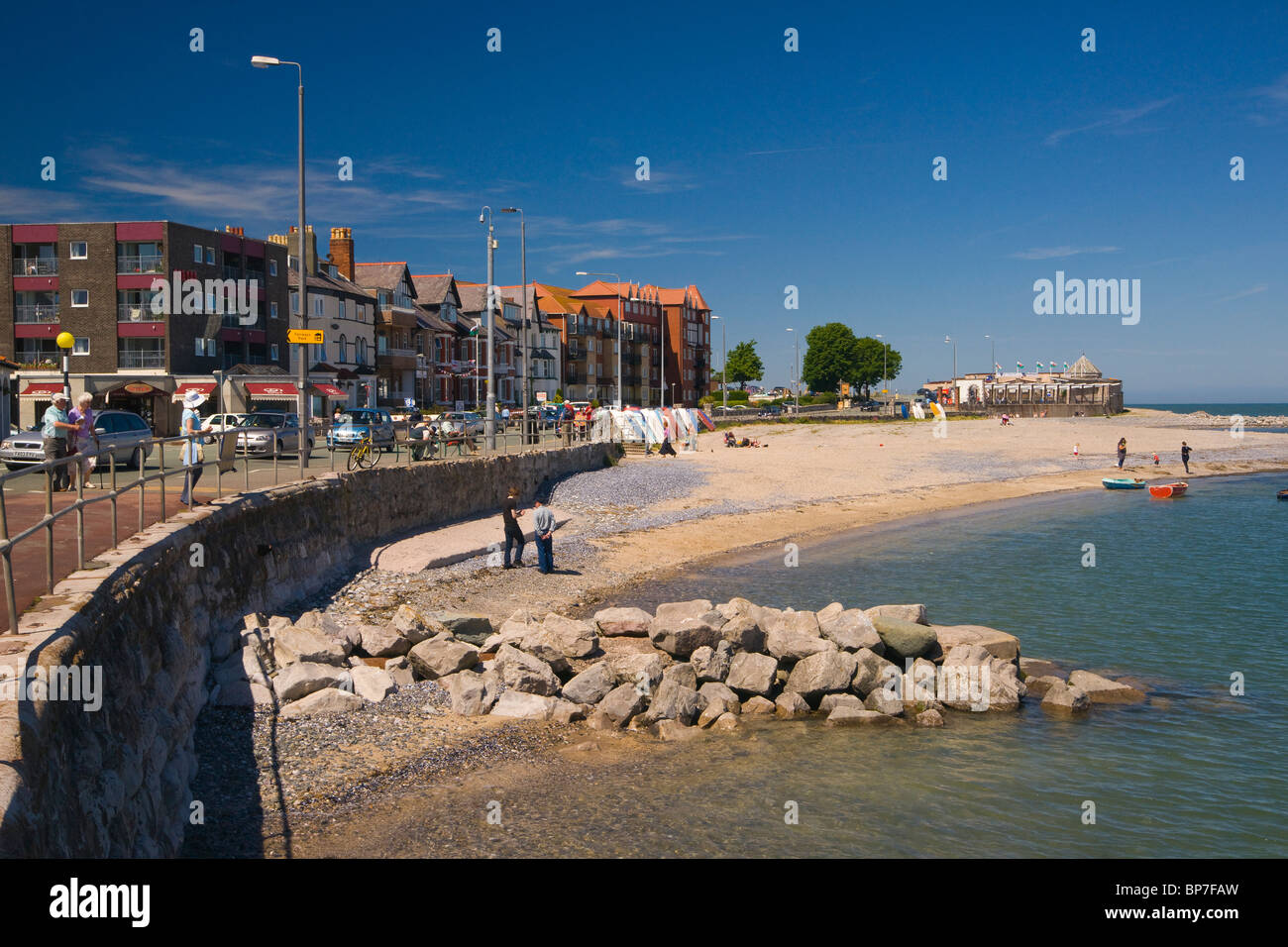 Rhos on Sea, Colwyn Bay, Beach, seafront, north Wales, UK Stock Photo