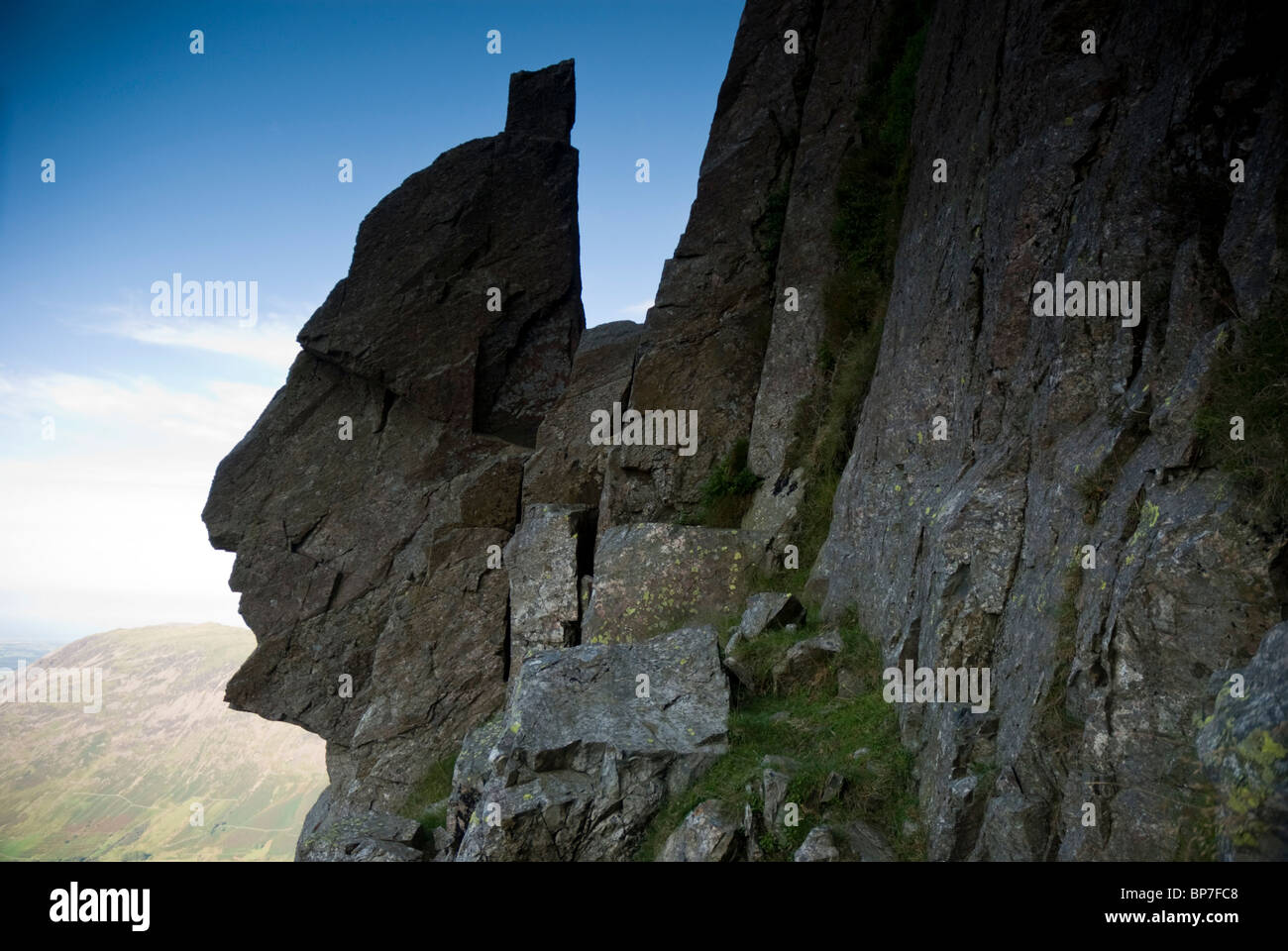 The Sphinx Rock on the Great Napes of Great Gable, Lake District, Cumbria, UK - Stock Image