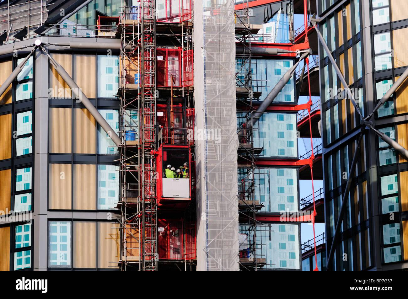 NEO Bankside construction site, Southwark, London, England, UK - Stock Image