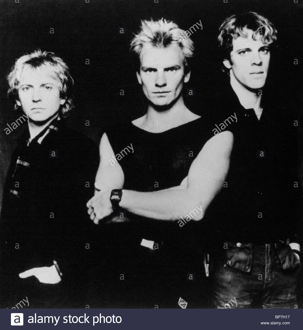 ANDY SUMMERS, STING, STEWART COPELAND, THE POLICE, 1980 - Stock Image